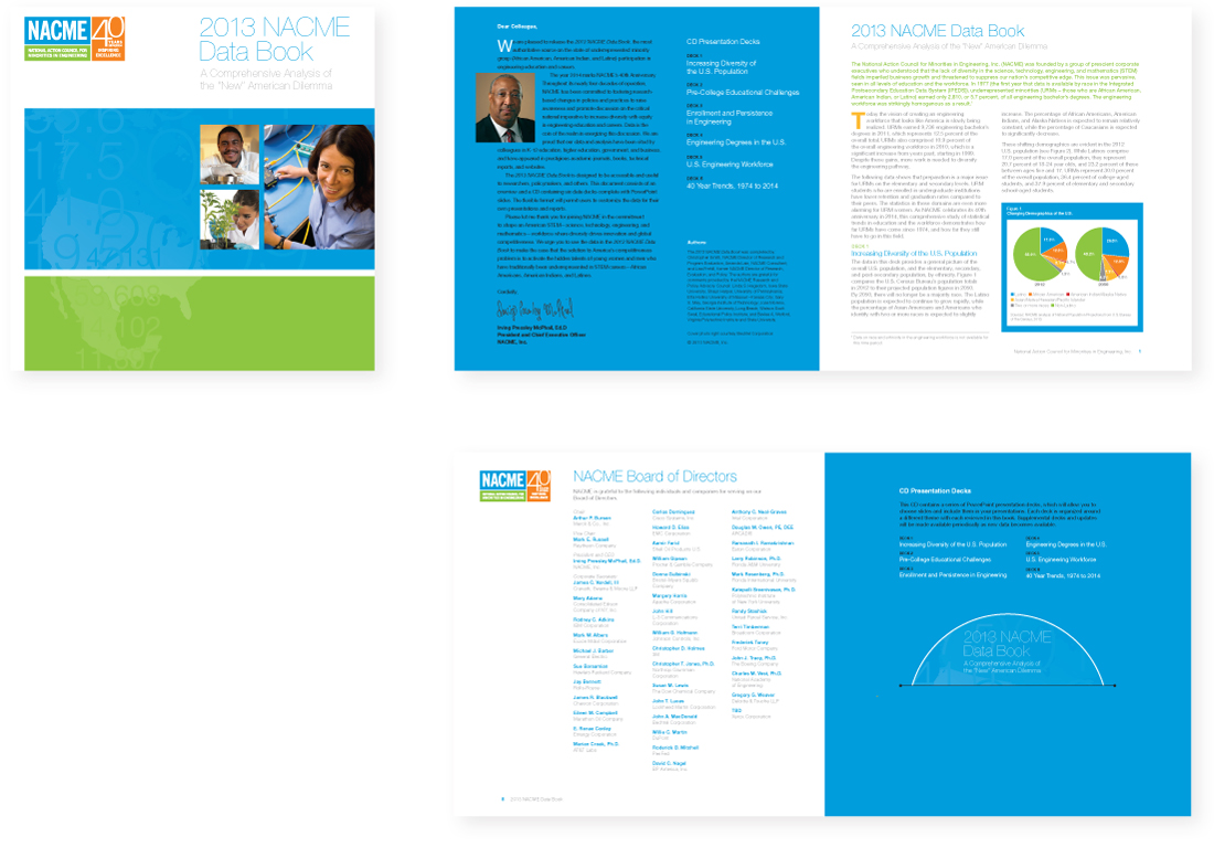 brand design applications, nacme, brand refresh, nonprofit, booklet, graphic design, new york