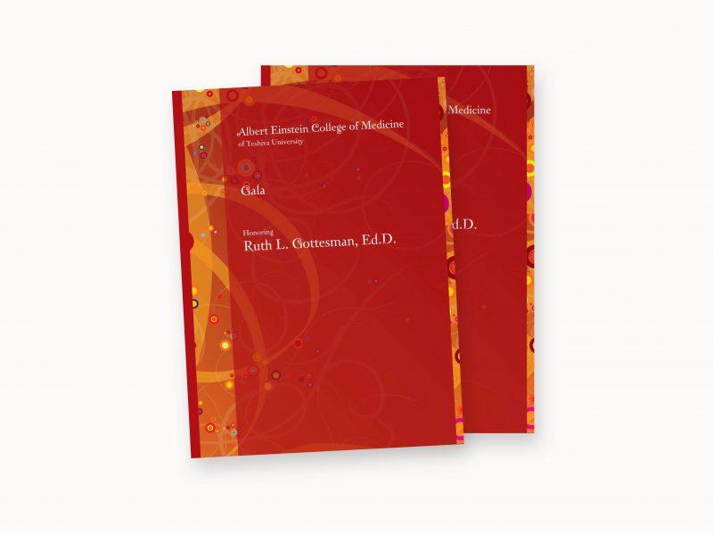 einstein college of medicine, Gottesman Gala, print design, new york, brand design, james wawrzewski, ludlow6