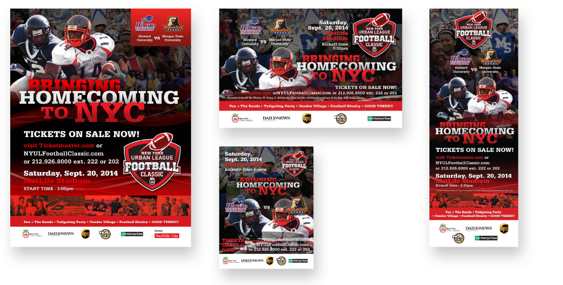 nyul football classic advertising design