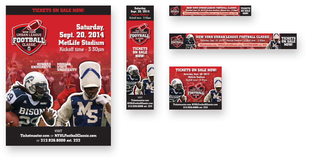 Football classic web banners advertising