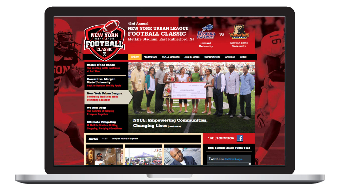 nyul, new york urban league, graphic design, football classic, event design, wordpress, ludlow6, james wawrzewski