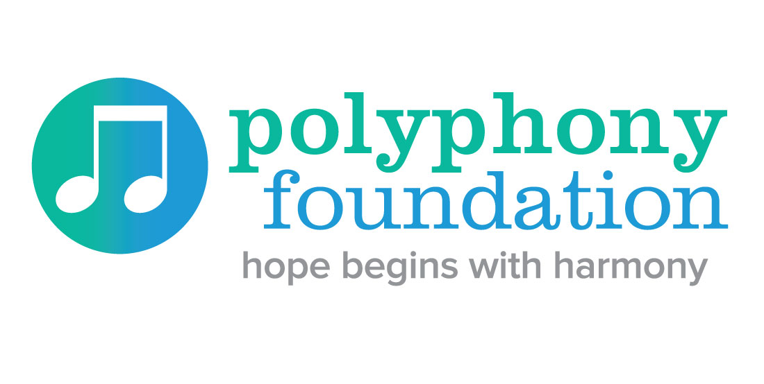 polyphony foundation, nonprofit, logo design, branding, brand design, james wawrzewski, ludlow6, new york