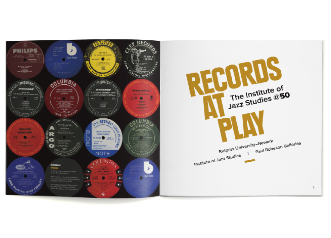 exhibit catalog, title page, records at play, rutgers university, james wawrzewski