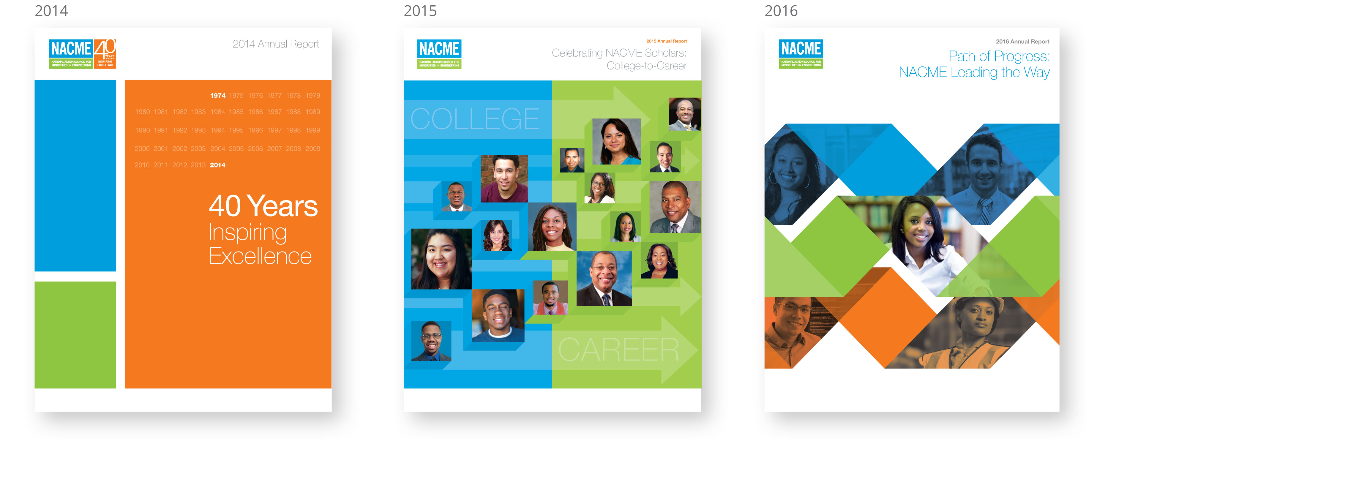 various annual report, nacme, brand design, nonprofit, new york, james wawrzewski