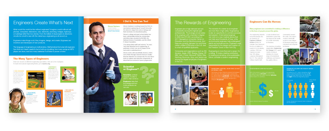 nacme brand design, magazine, middle school, NACME, engineering, STEM, James Wawrzewski