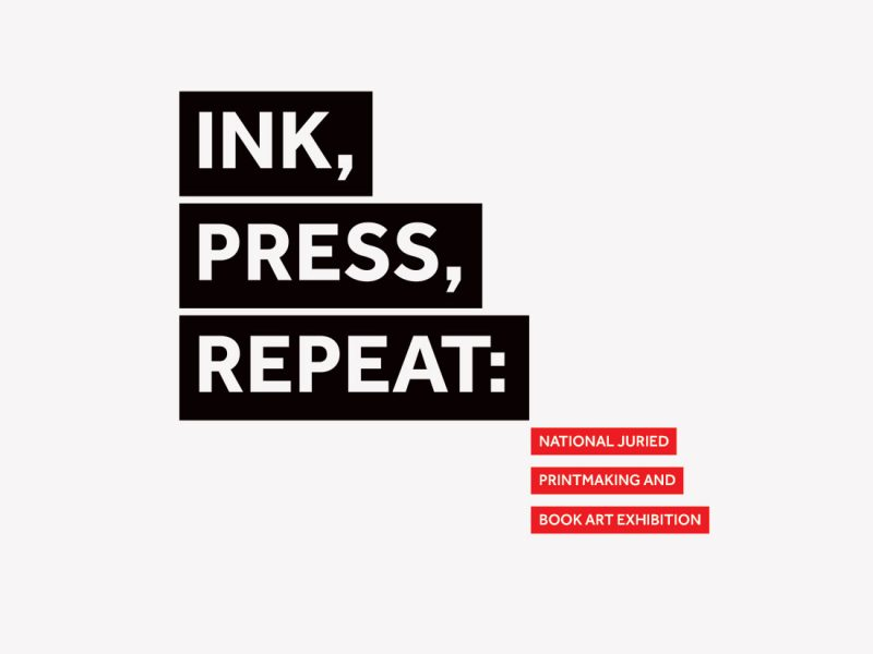 Printmaking exhibition graphic logo for William Paterson University