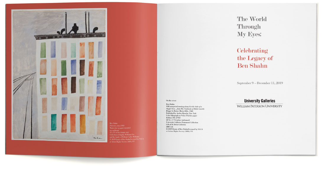 Ben Shahn print catalog for William Paterson University title page