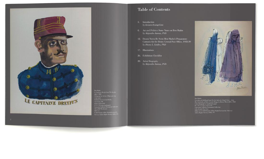 Ben Shahn print catalog for William Paterson University contents
