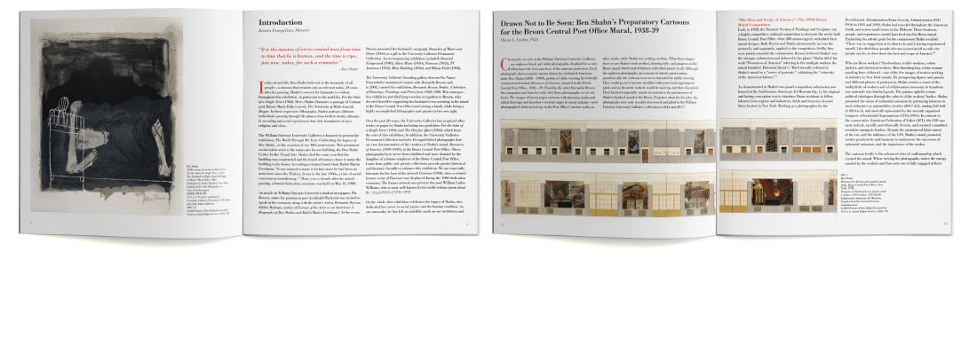 Ben Shahn print catalog for William Paterson University spreads