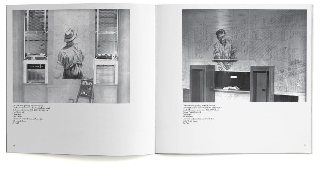 Ben Shahn print catalog for William Paterson University spread