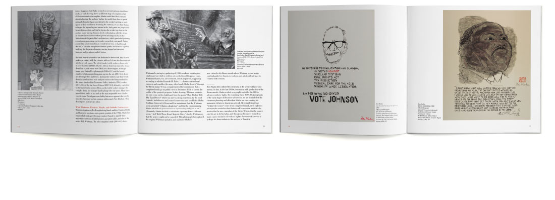 Ben Shahn print catalog for William Paterson University spreads